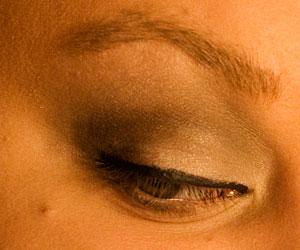After applying eyeliner