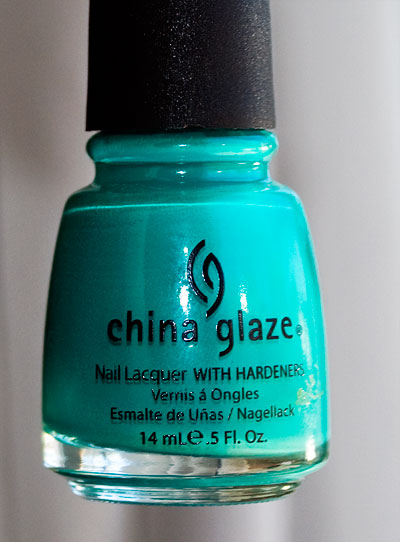 China Glaze Four Leaf Clover (greener in person!)
