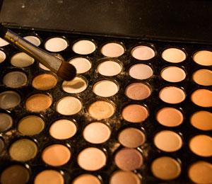 Sweep a brush into your beige eyeshadow
