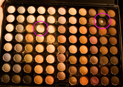Coastal Scents 88 Warm Palette, colors used are circled