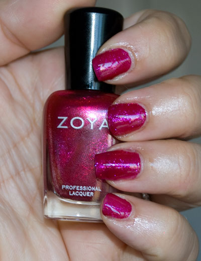 Zoya Sparkle Collection: Alegra (indoors, with flash)