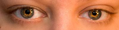 Bare lashes: Blonde, short lashes