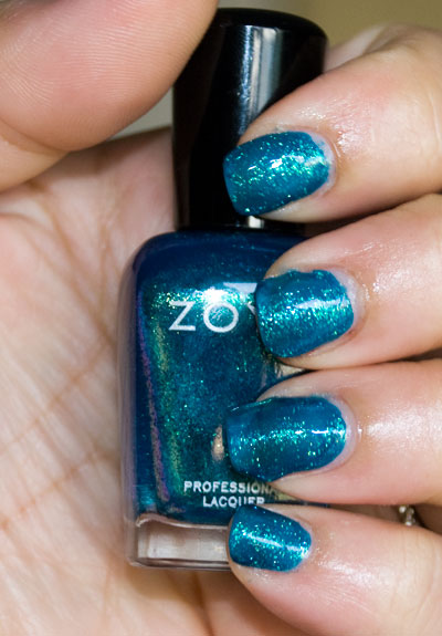 Zoya Sparkle Collection: Charla (indoors, with flash)