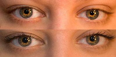 Bare eyes vs. Great Lash BIG applied