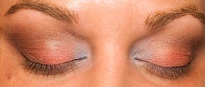 After blending, before mascara
