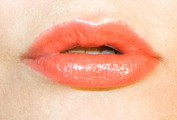 Lipstick application finished