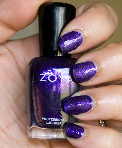 Zoya Sparkle Collection: Mimi (indoors, with flash)