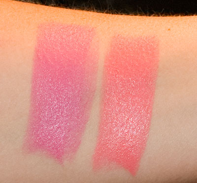 NYC Blushable Creme Sticks: Wild Berry (left), Pink Flash (right)