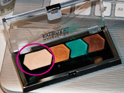 Sweep the lightest color over entire eyelid
