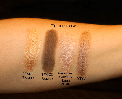 Third row of eye-shadows