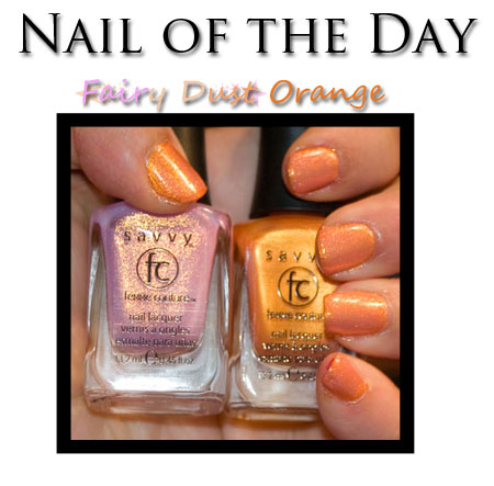 Nail of the Day: Fairy Dust Orange