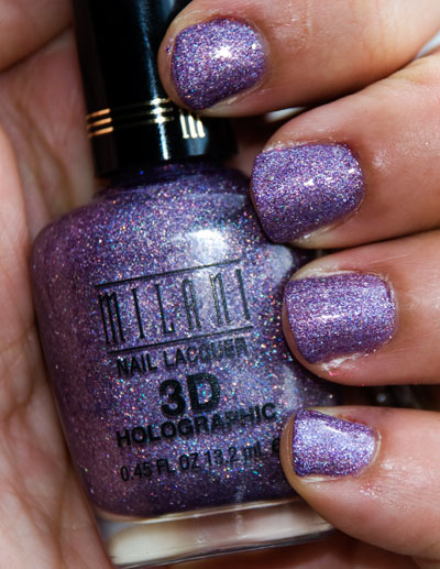 "Lookbook: Milani Cosmetics 3D Holographic Nail Polish, ""Hi Res"" hi res Milani"