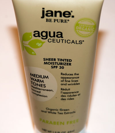 Jane BE PURE aguaceuticals Sheer Tinted Moisturizer