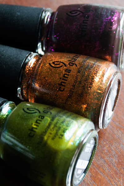 "Lookbook: China Glaze ""Awakening"" Collection, Halloween 2010 Swatches bottles1 China Glaze"