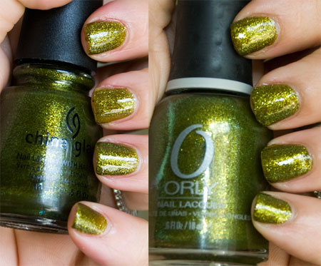 "Lookbook: China Glaze ""Awakening"" Collection, Halloween 2010 Swatches comparison2 China Glaze"