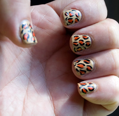 Tutorial: Cheetah/Leopard Print Nails 21