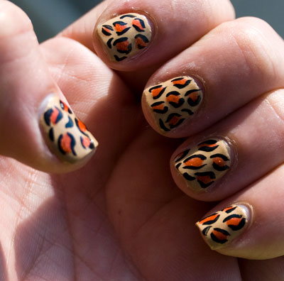Tutorial: Cheetah/Leopard Print Nails 31
