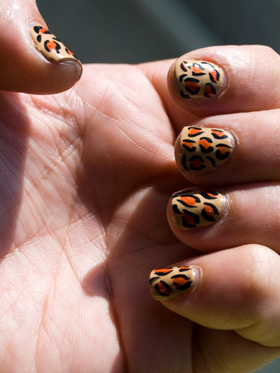 Tutorial: Cheetah/Leopard Print Nails 42