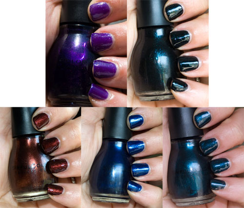All Shades Were Two Coats With The Exception Of Dawn Purple Which Needed 3 Because Jelly Base These Polishes Will Last On Your Nails
