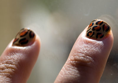 Tutorial: Cheetah/Leopard Print Nails rawr