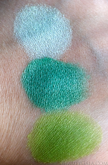 "Lookbook: Wet n Wild Beauty, ""I Dream of Greenie,"" Palette Swatches Trio2 Wet & Wild Feature Columns Eyes Categories Beauty Bargains"