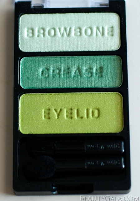 "Lookbook: Wet n Wild Beauty, ""I Dream of Greenie,"" Palette Swatches Trio3 Wet & Wild Feature Columns Eyes Categories Beauty Bargains"