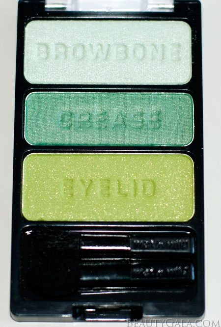 "Lookbook: Wet n Wild Beauty, ""I Dream of Greenie,"" Palette Swatches Trio4 Wet & Wild Feature Columns Eyes Categories Beauty Bargains"