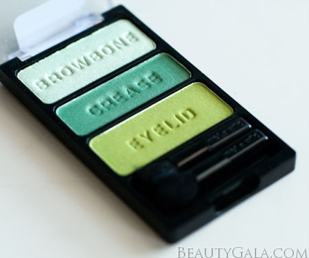 "Lookbook: Wet n Wild Beauty, ""I Dream of Greenie,"" Palette Swatches Trio5 Wet & Wild Feature Columns Eyes Categories Beauty Bargains"