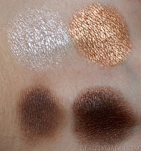 "Lookbook: Maybelline ExpertWear Quad, ""Chai Latte,"" Swatches Chai Maybelline Eyes Beauty Bargains"