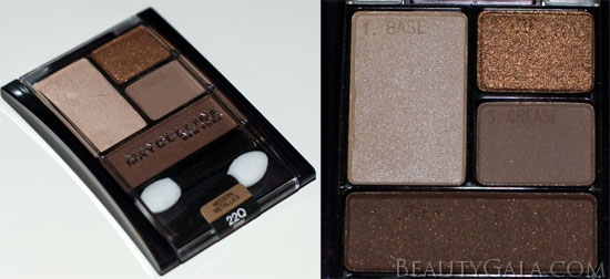 "Lookbook: Maybelline ExpertWear Quad, ""Chai Latte,"" Swatches Chai9 Maybelline Eyes Beauty Bargains"
