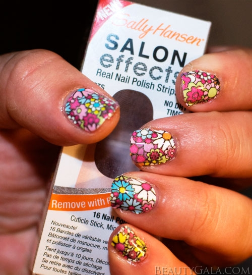 Sally Hansen Salon Effects Nail Polish Strips are available in a variety of colors, patterns, and finishes at drugstores and mass retailers nationwide.