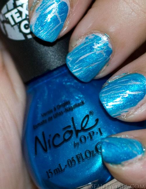 shatter polishes lookbook nicole by opi texture coat nail polish turquoise