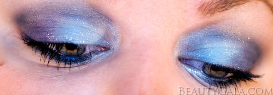"Makeup Look: ""Blue Blowout,"" using Maybelline EyeStudio Color Explosion Palette blow11 Type Tutorials Maybelline Lookbook Eyes Categories Brands"