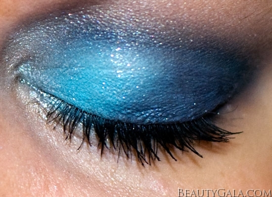 "Makeup Look: ""Blue Blowout,"" using Maybelline EyeStudio Color Explosion Palette blow7 Type Tutorials Maybelline Lookbook Eyes Categories Brands"