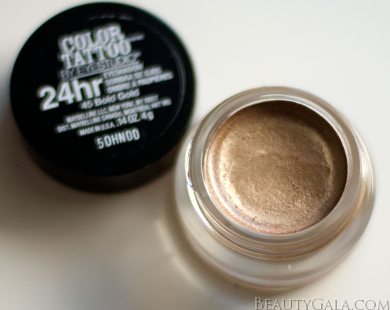 maybelline color tattoo 24 hour eyeshadow bold gold