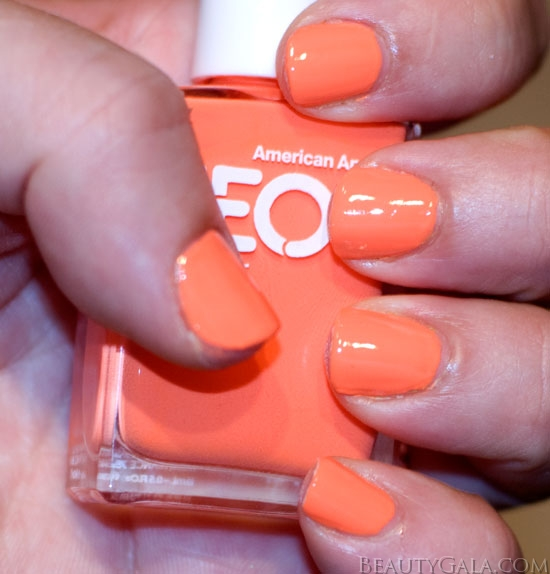 Neon Trend: American Apparel Neon Coral Nail Polish, Photographs ...