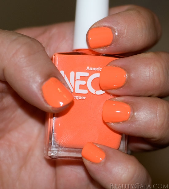 Why Does Neon Nail Polish Chip: Neon Trend: American Apparel Neon Coral Nail Polish