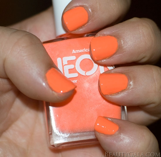 Neon Trend American Apparel Neon Coral Nail Polish Photographs Amp Swatches