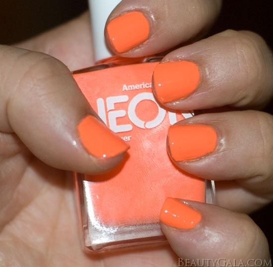 Neon Nail Polish Online: Neon Trend: American Apparel Neon Coral Nail Polish