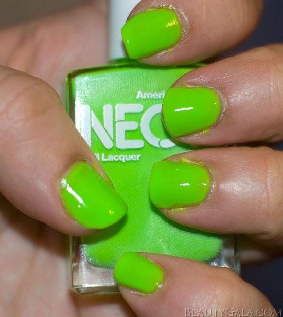 Neon Nail Polish Online: NEON St. Patrick's Day Nails: American Apparel Neon Green