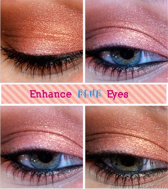 Enhance Blue Eyes Copper Eyeshadow Look