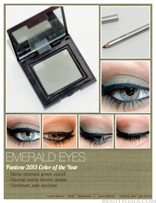 Pantone 2013 Color Of The Year Emerald Eye Makeup Tutorial