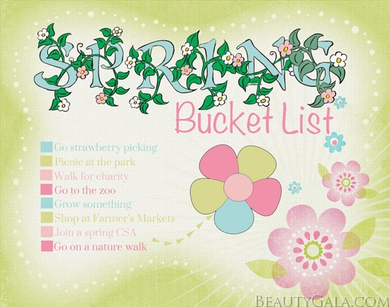 My Spring 2013 Bucket List