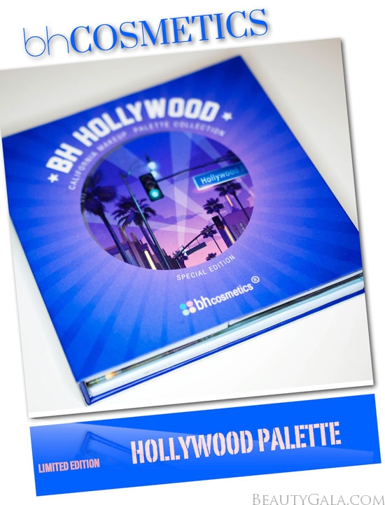 BH Cosmetics Hollywood Eyeshadow & Blush Palette, Photographs, Review, & Swatches