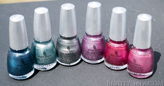 China Glaze Hologlam Collection, Photographs, Review, & Swatches