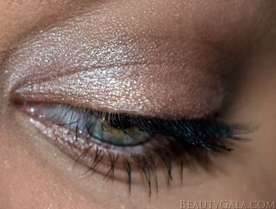 Using the LORAC Pro Palette, I blended a matte brown into my natural socket, and a champagne shade over my eyelid