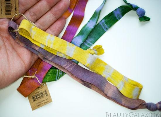 Gift Guide: Natural Life Tie-Dye Headbands, Tie-Dye Bracelet/Hairbands, & Emery Boards!