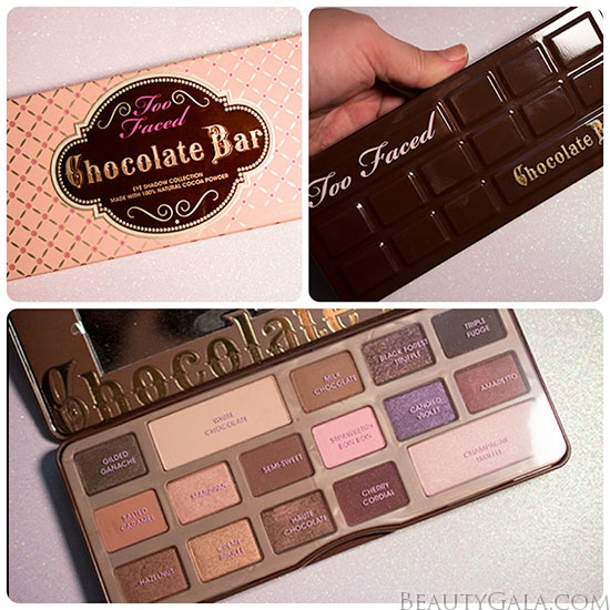Too Faced Chocolate Bar Palette Swatches Review