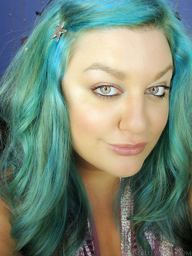 Atomic turquoise on brown hair