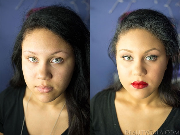 Before/After Prom Makeup